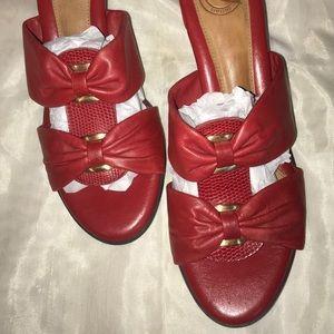 Nurture Shoes - Nurture red heeled leather sandals size 8 M